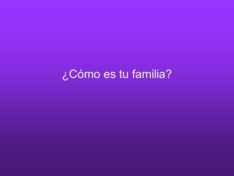 ¿Cómo es tu familia?