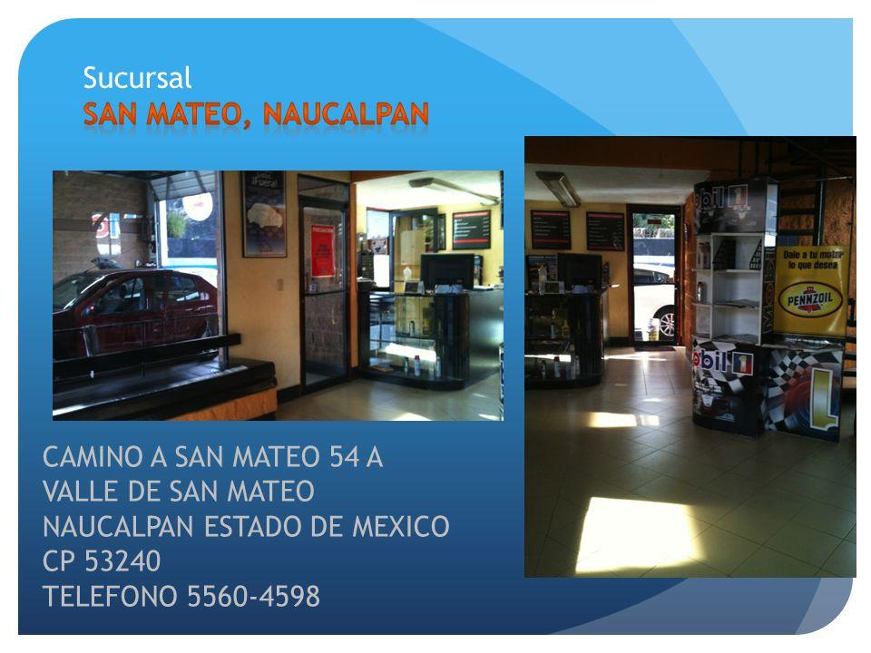 CAMINO A SAN MATEO 54 A VALLE DE SAN MATEO NAUCALPAN ESTADO DE MEXICO CP 53240 TELEFONO 5560-4598