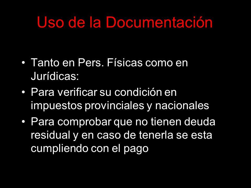 Uso de la Documentación Tanto en Pers.