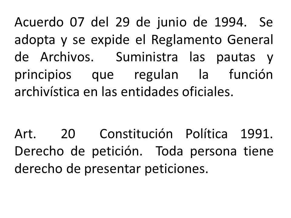 1994 de 20 de junio ley general de: