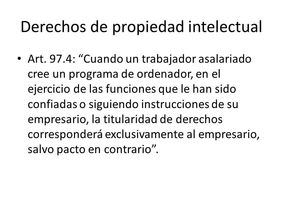 Derechos de propiedad intelectual Art.
