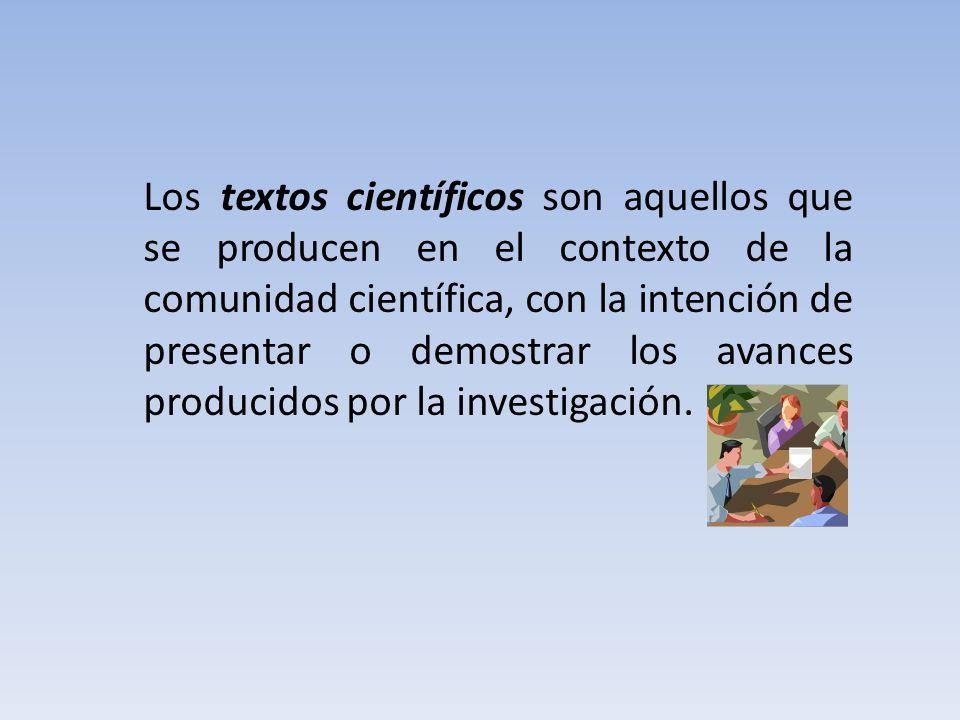 2.- Características de un texto científico.El texto científico no es uniforme.