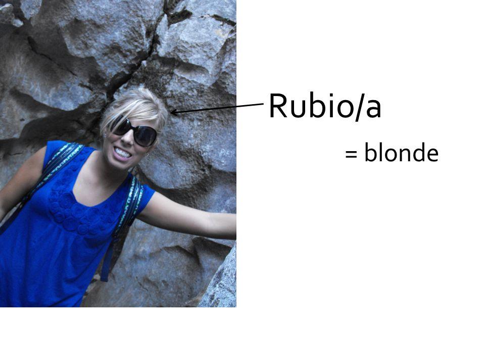 Rubio/a = blonde