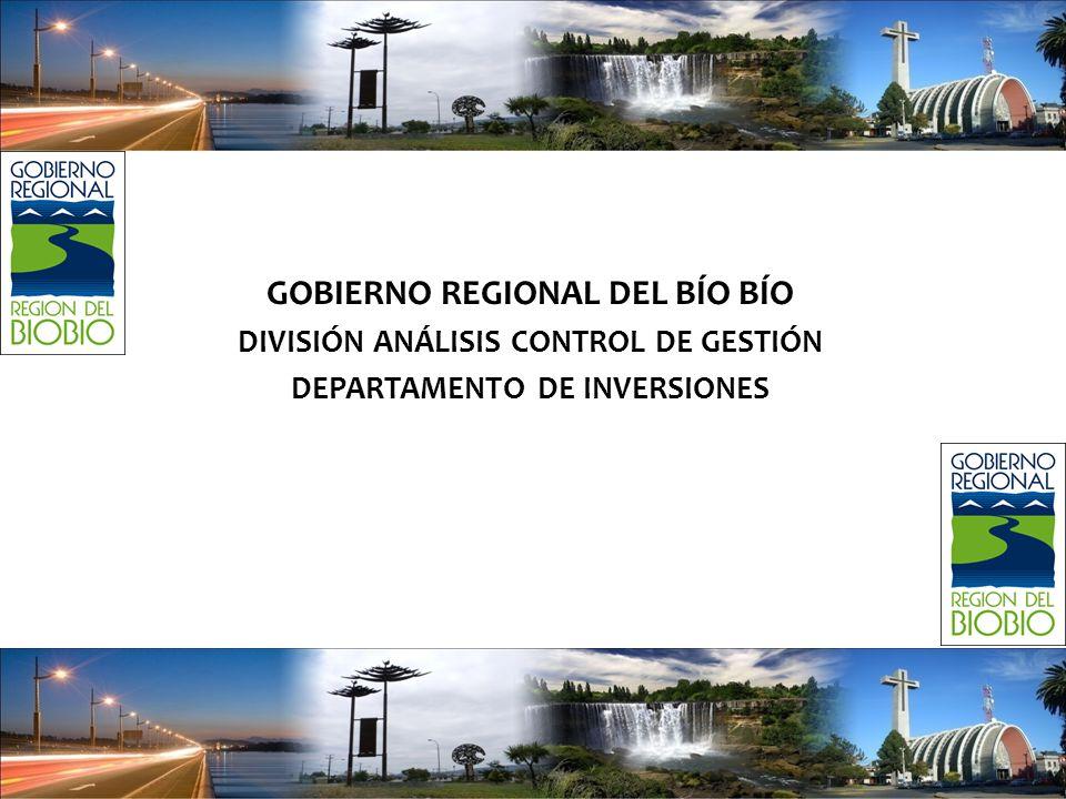 GOBIERNO REGIONAL DEL BÍO BÍO DIVISIÓN ANÁLISIS CONTROL DE GESTIÓN DEPARTAMENTO DE INVERSIONES