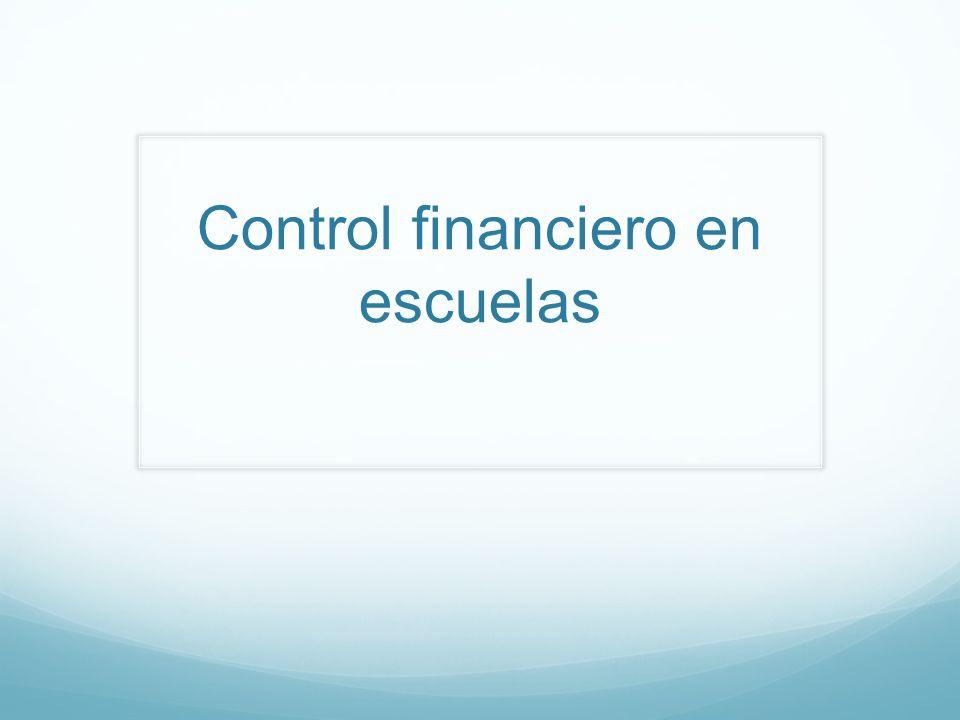 Control financiero en escuelas