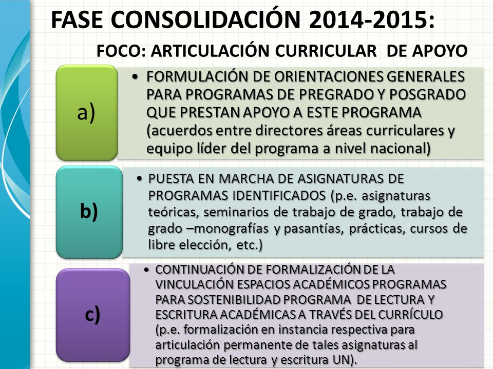 P ROGRAMA DE C OMPETENCIAS C OMUNICATIVAS A CADÉMICAS (L ECTURA Y E ...