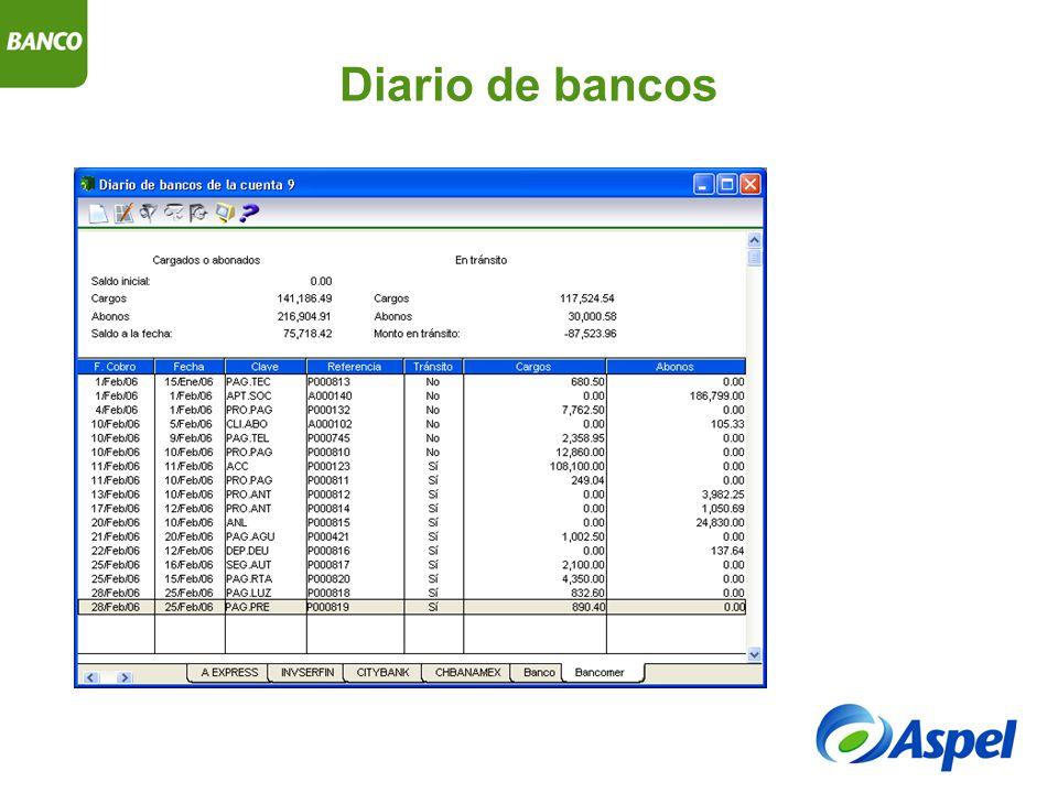 Diario de bancos