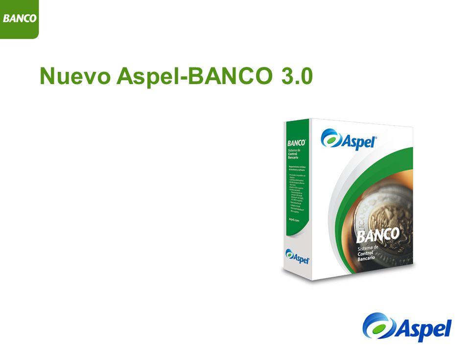 Aspel-BANCO 3.0 Controla eficientemente los ingresos y egresos de cualquier tipo de cuenta bancaria, ofreciendo información financiera precisa en todo momento.