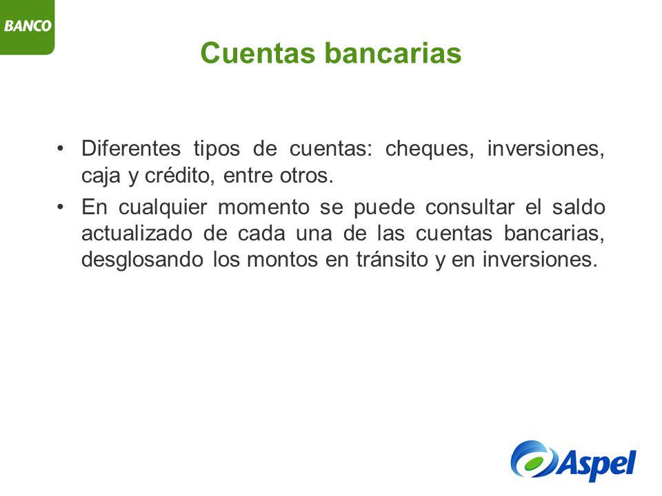 Consultas, reportes y estadísticas Diario de bancos.