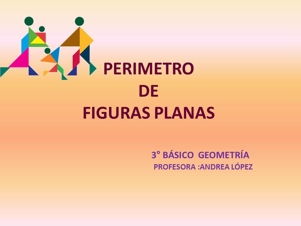 PERIMETRO DE FIGURAS PLANAS 3° BÁSICO GEOMETRÍA PROFESORA :ANDREA LÓPEZ