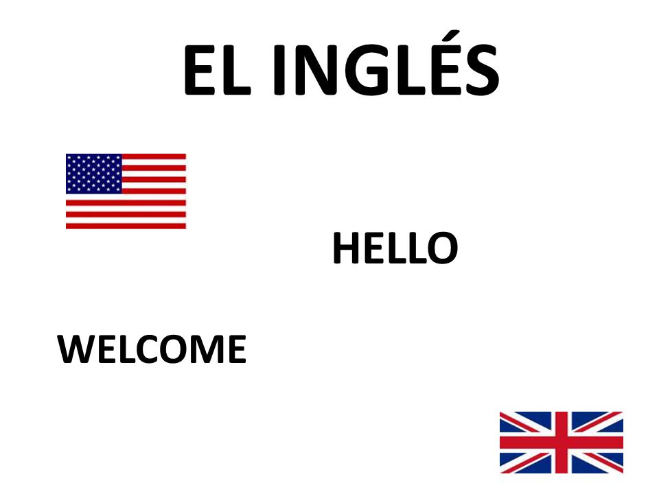 EL INGLÉS WELCOME HELLO