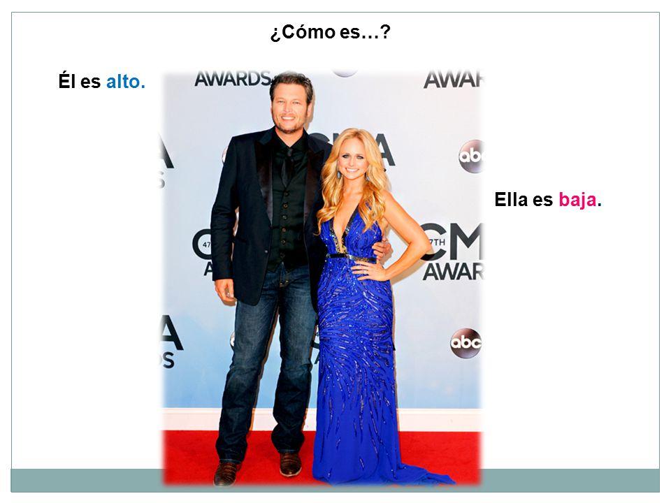 Él es alto. Ella es baja. ¿Cómo es…?