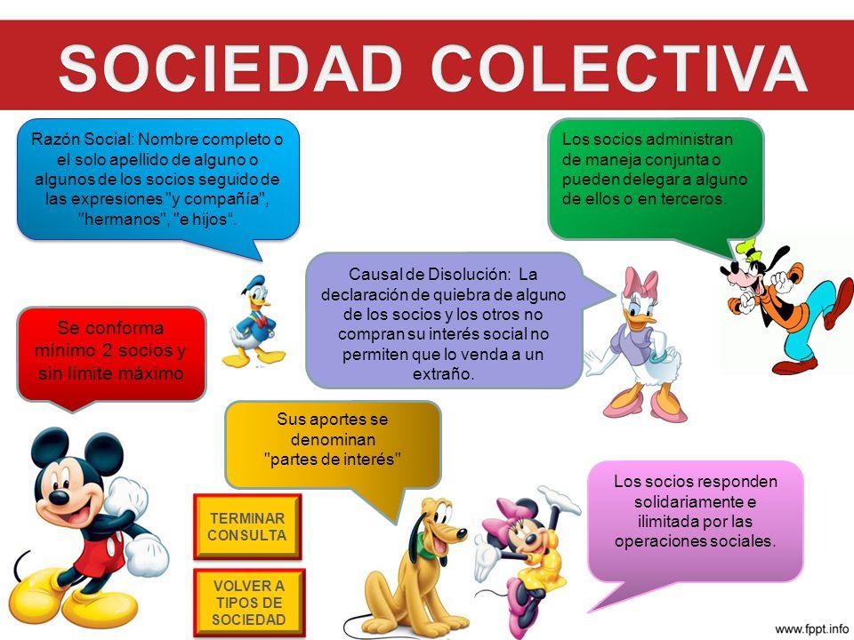1.SOCIEDAD COLECTIVA 2. SOCIEDAD DE RESPONSABILIDAD LIMITADA LTDA 2.