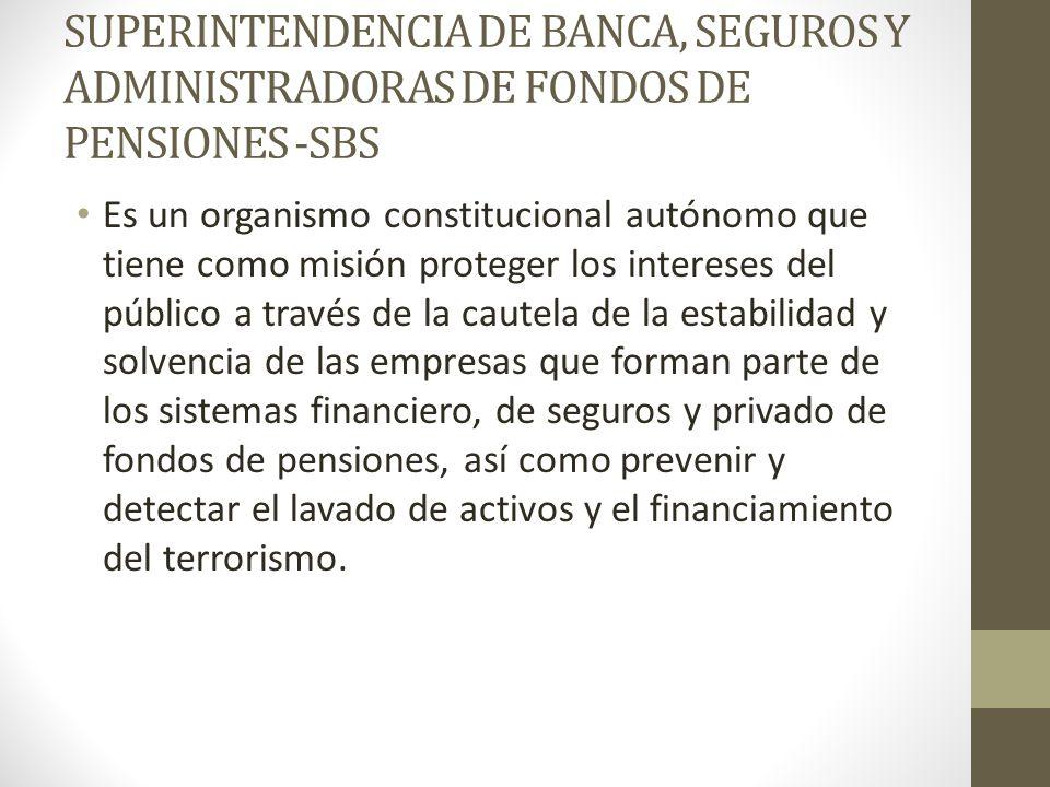 de banca seguros y administradoras privadas de fondos de pension: