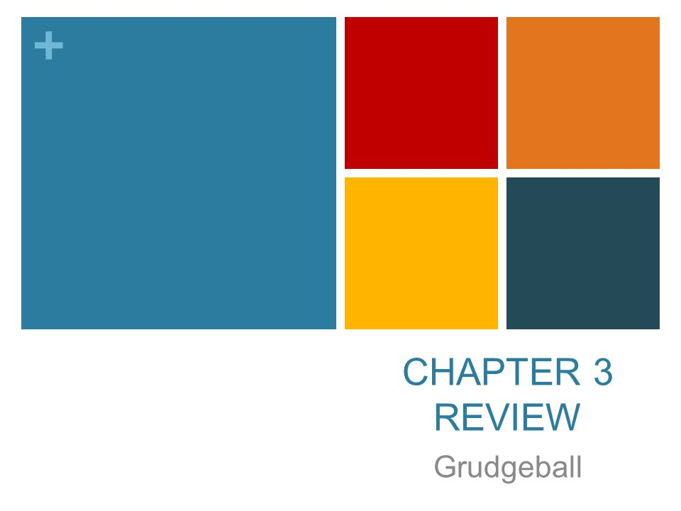 + CHAPTER 3 REVIEW Grudgeball