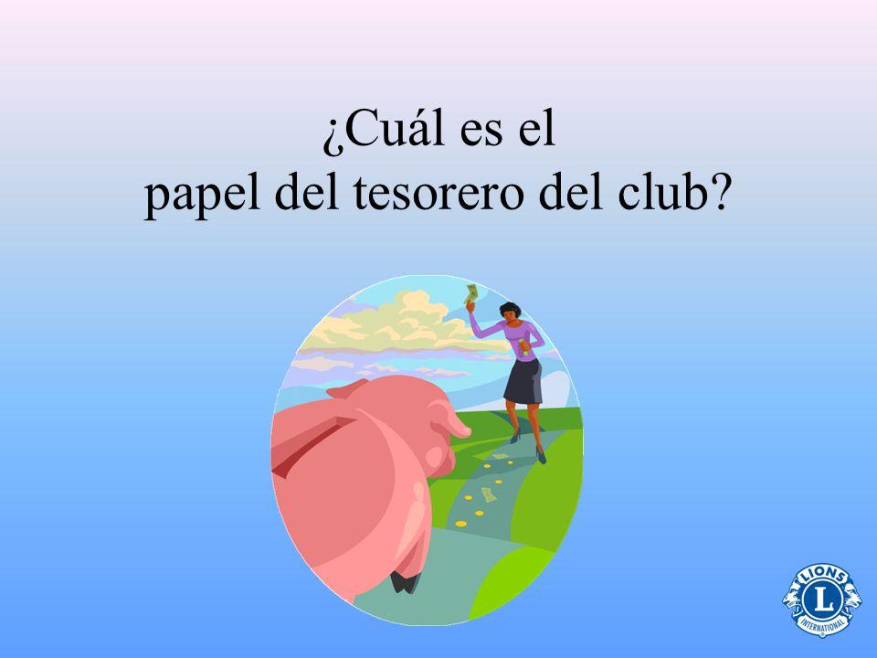 ¿Cuál es el papel del tesorero del club?