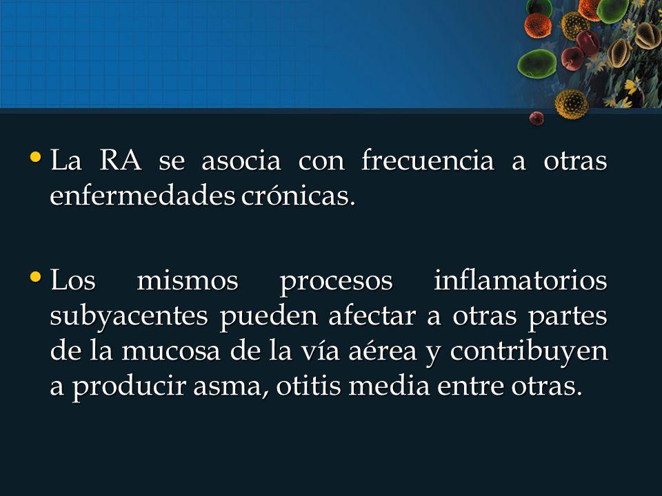 La RA se asocia con frecuencia a otras enfermedades crónicas.