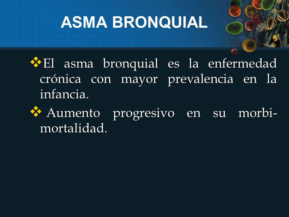  El asma bronquial es la enfermedad crónica con mayor prevalencia en la infancia.