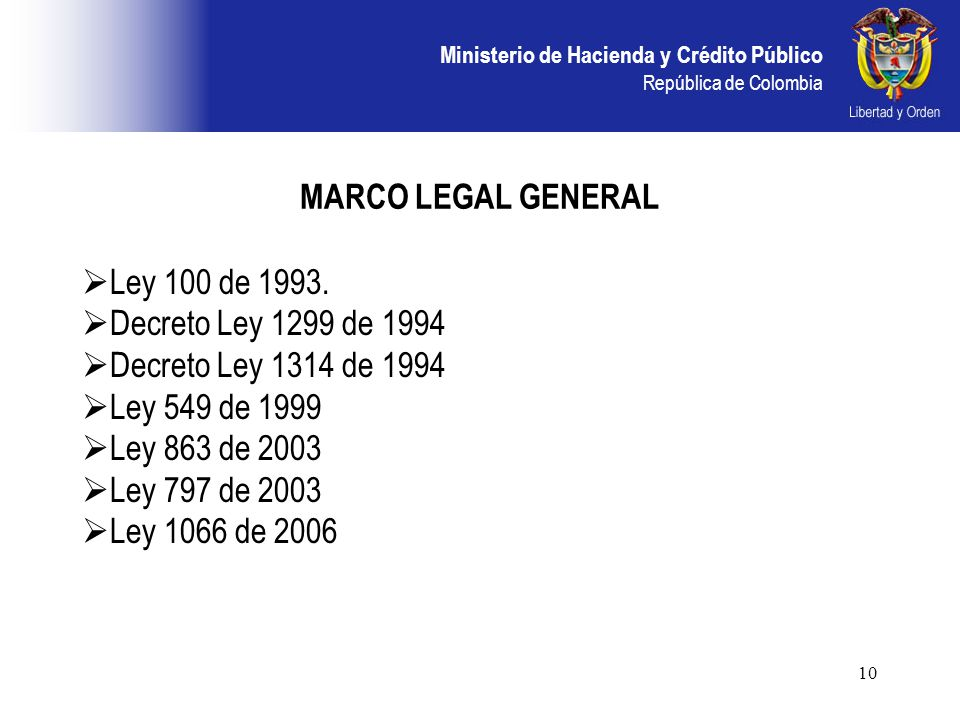 ley 100 diciembre 2006: