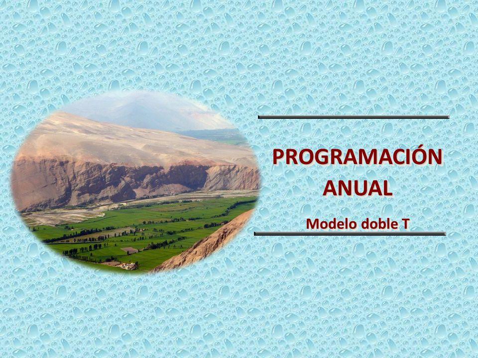 PROGRAMACIÓN ANUAL Modelo doble T PROGRAMACIÓN ANUAL Modelo doble T