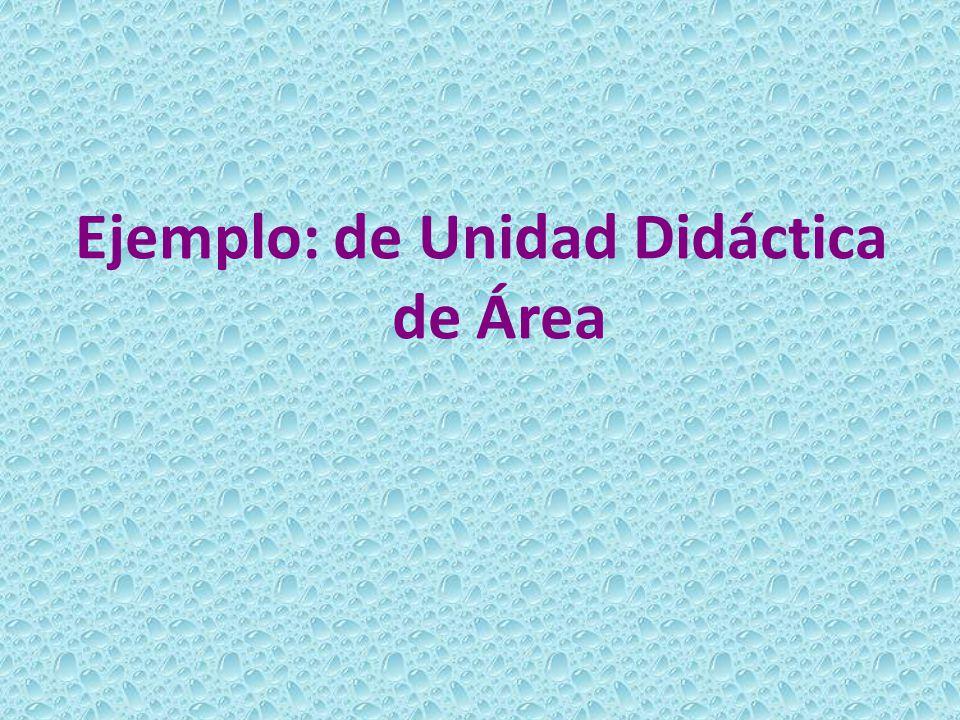 Ejemplo: de Unidad Didáctica de Área