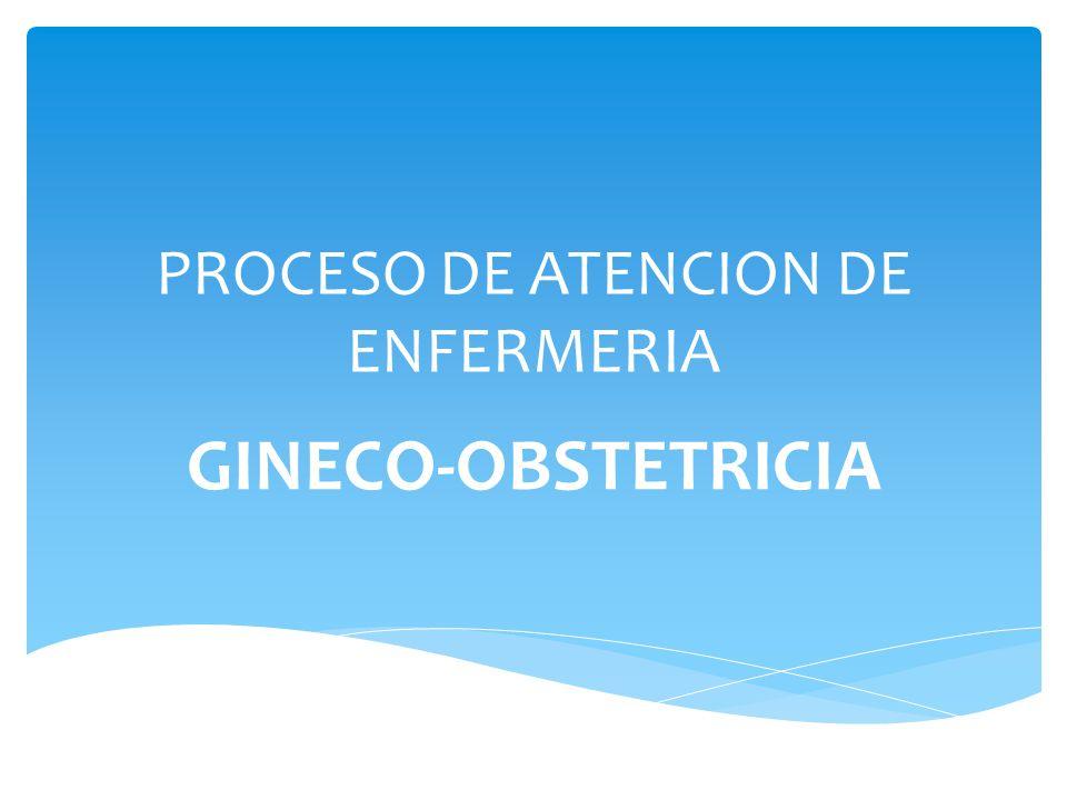 PROCESO DE ATENCION DE ENFERMERIA GINECO-OBSTETRICIA