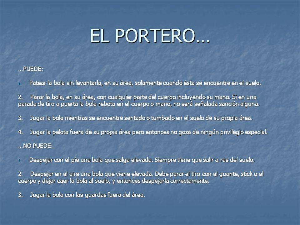 EL PORTERO… …PUEDE: 1.