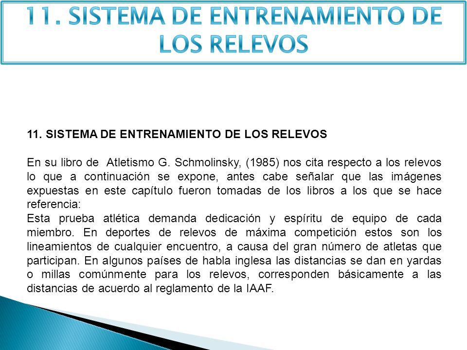 11.SISTEMA DE ENTRENAMIENTO DE LOS RELEVOS En su libro de Atletismo G.