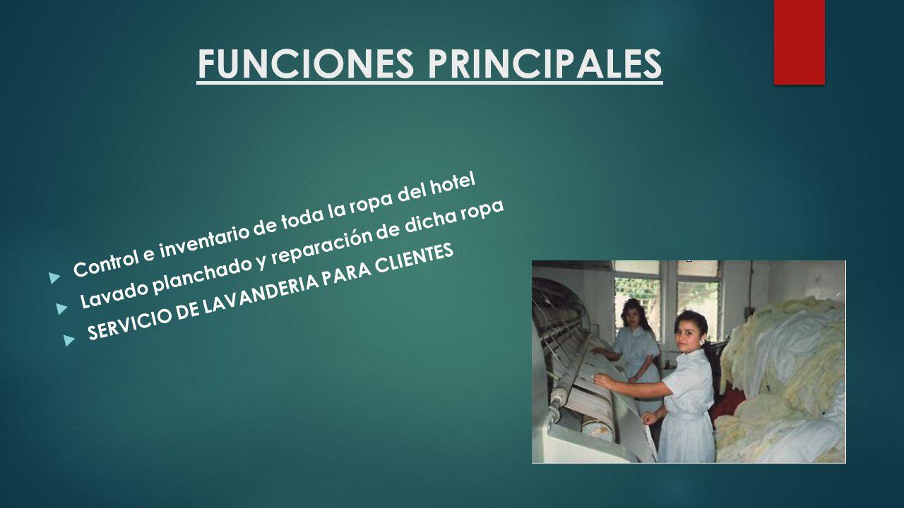  ORGANIGRAMA Y FUNCIONES El departamento de Ama de Llaves se encuentra ubicado en el organigrama de un hotel dentro de la División Cuartos.