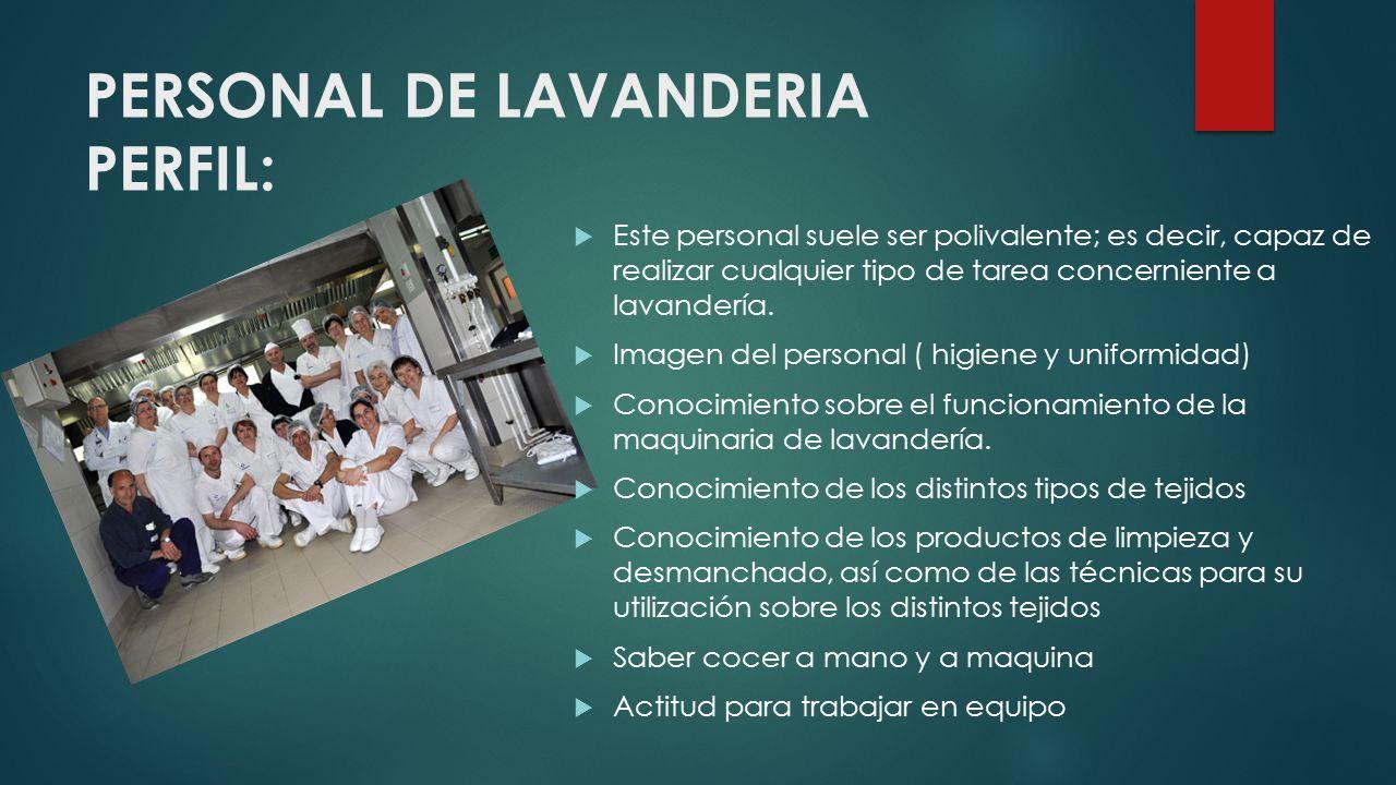 FUNCIONES: Clasificar y controlar la ropa sucia entregada por los distintos departamentos.