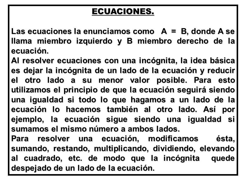 ECUACIONES.