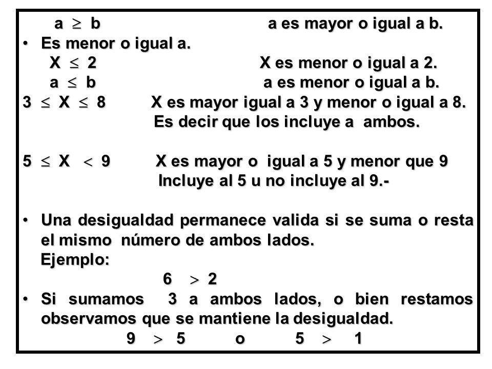 a  b a es mayor o igual a b.a  b a es mayor o igual a b.
