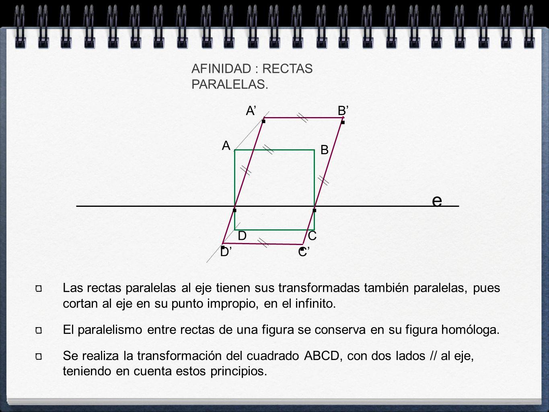 C' B' e AFINIDAD : RECTAS PARALELAS. A C B D...