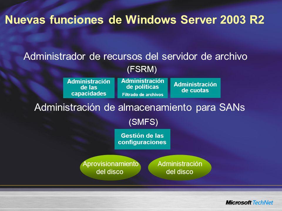 Funciones de la Administración de almacenamiento en Windows Server ...
