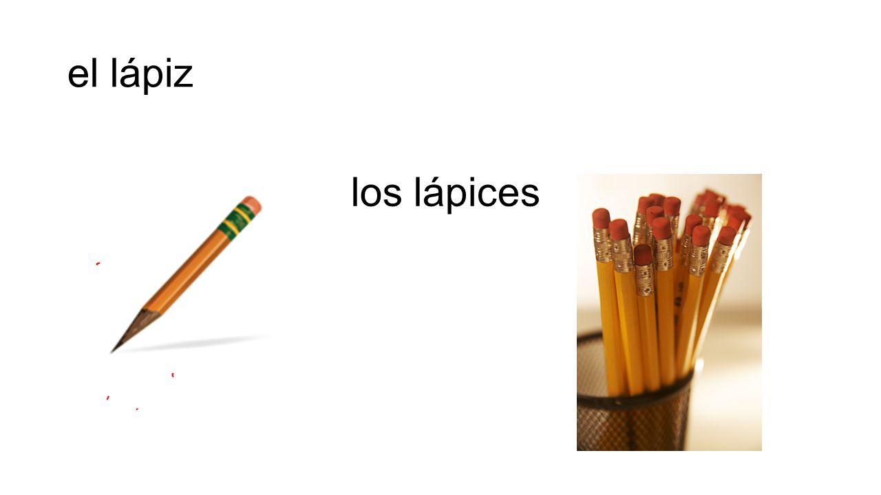 el lápiz los lápices