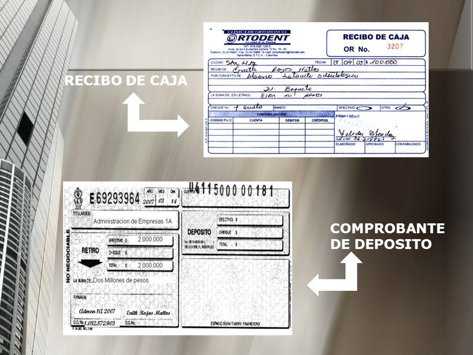 RECIBO DE CAJA COMPROBANTE DE DEPOSITO