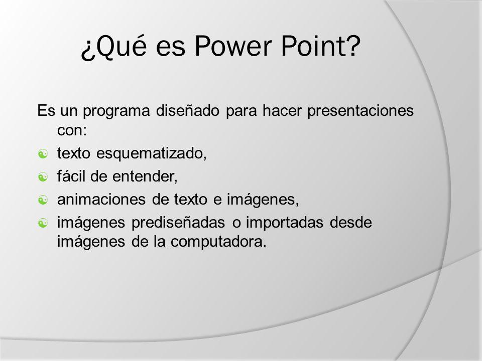 ¿Qué es Power Point.