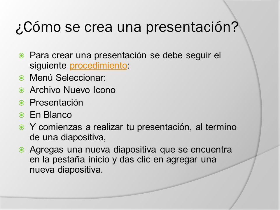 ¿Cómo se crea una presentación.