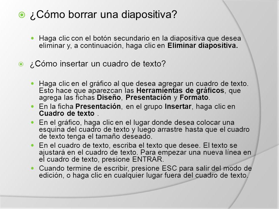  ¿Cómo borrar una diapositiva.