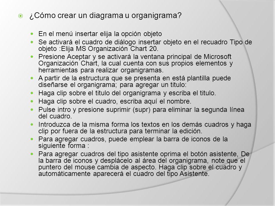  ¿Cómo crear un diagrama u organigrama.