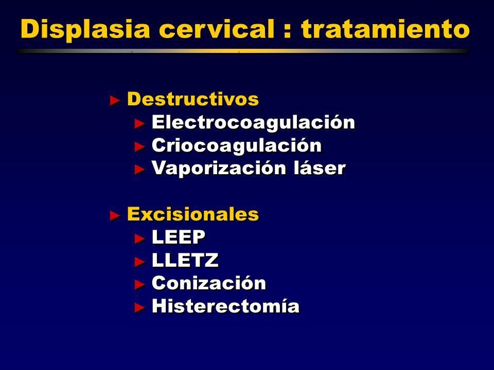 las lesiones intraepiteliales cervicales: