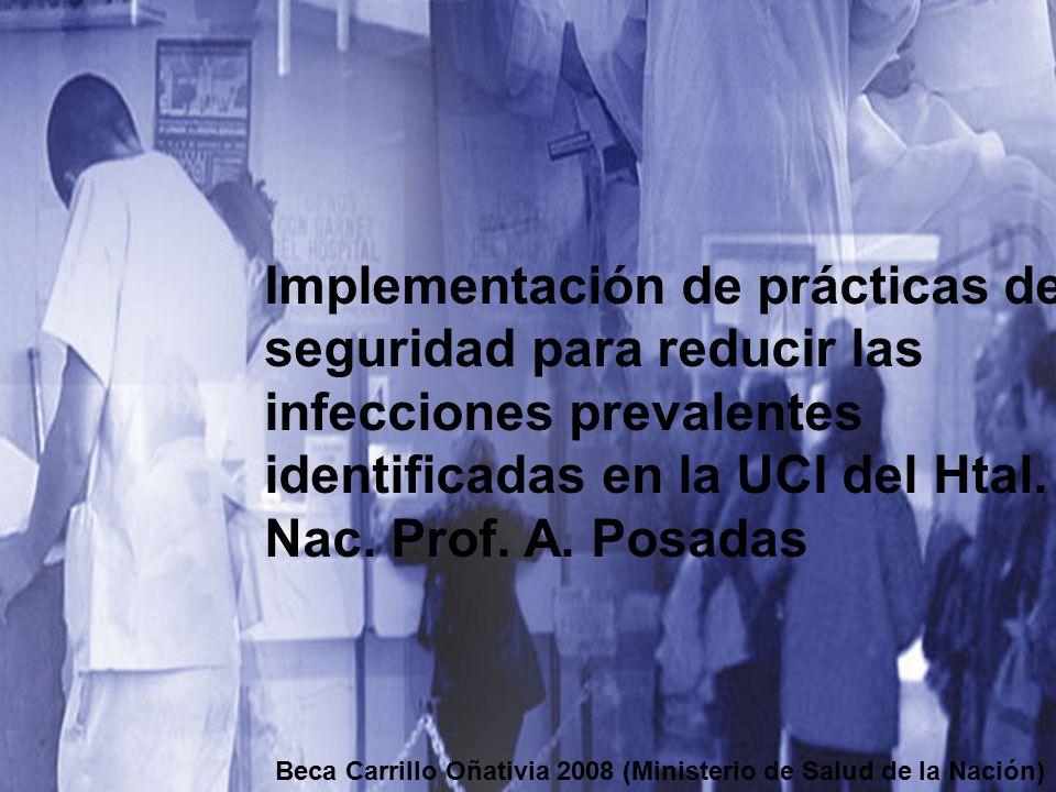 Implementación de prácticas de seguridad para reducir las infecciones prevalentes identificadas en la UCI del Htal. Nac. Prof. A. Posadas Beca Carrill