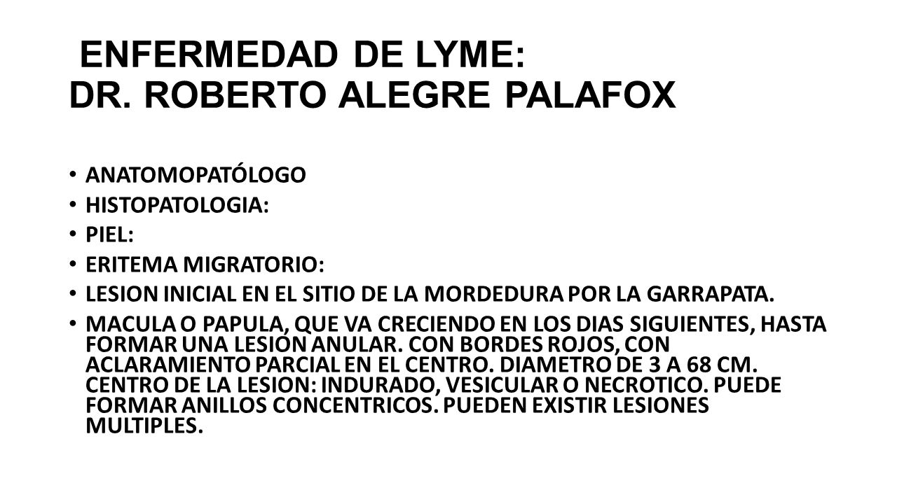 ENFERMEDAD DE LYME: