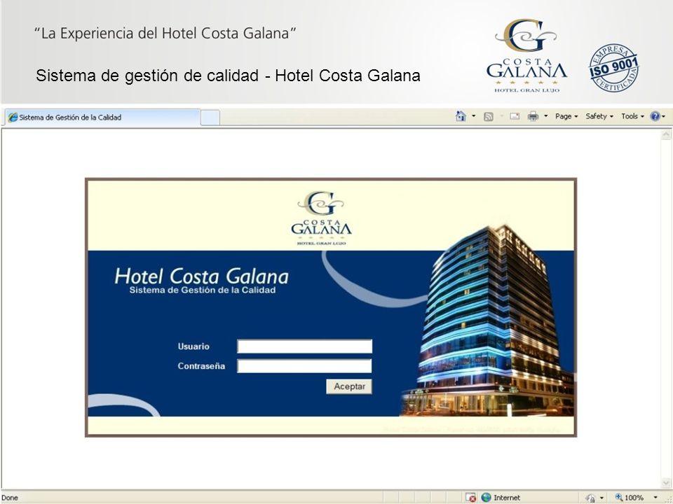 Sistema de gestión de calidad - Hotel Costa Galana
