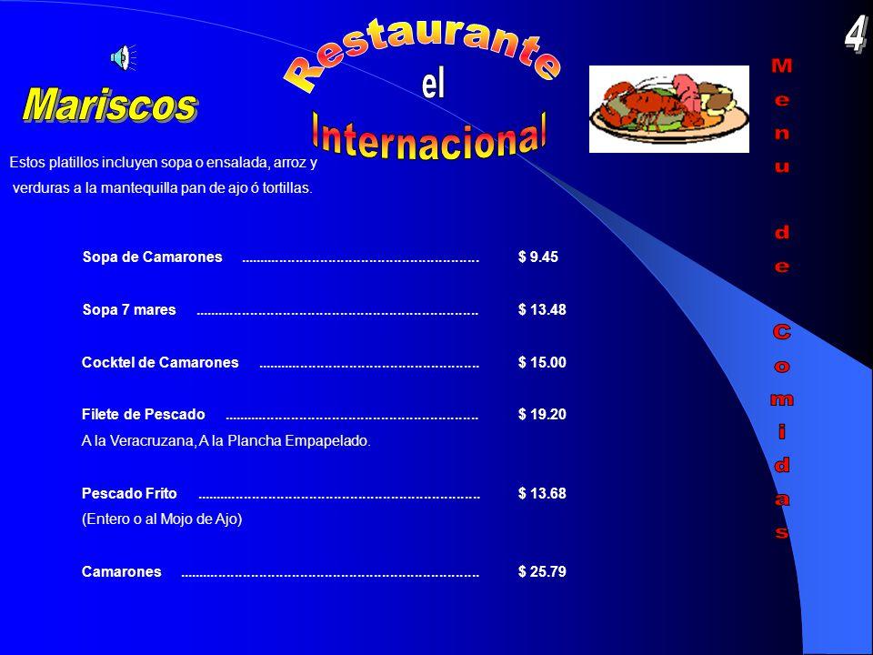 Carne Asada........................................................................$ 24.25 New York servido con rajas poblanas, guacamole, chiles toreados y frijoles refritos.
