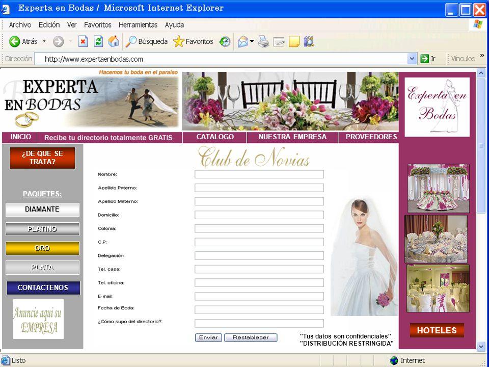 EXPERTA EN BODAS, es un portal especializado, donde encontrarás todo lo que necesitas para organizar y realizar tu boda de una manera sencilla, desde el mismo lugar y desde la comodidad de tu casa u oficina.
