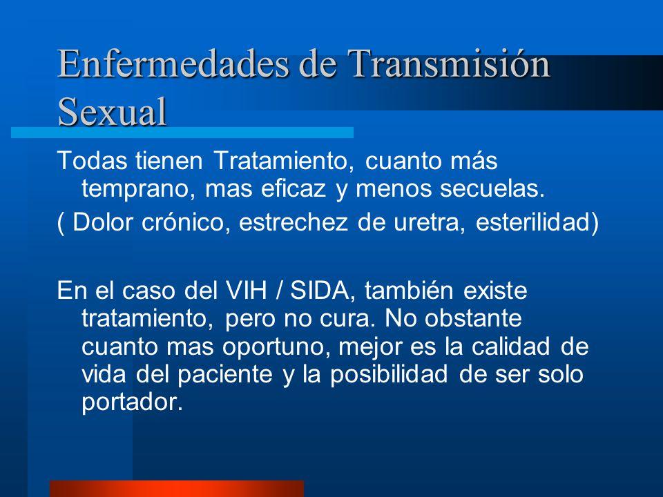 Enfermedades de Transmisión Sexual ¿Tienen Tratamiento?