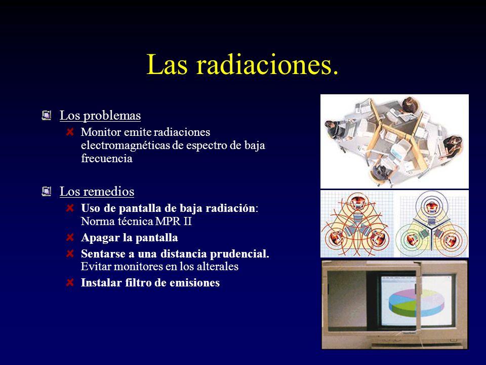 Las radiaciones.