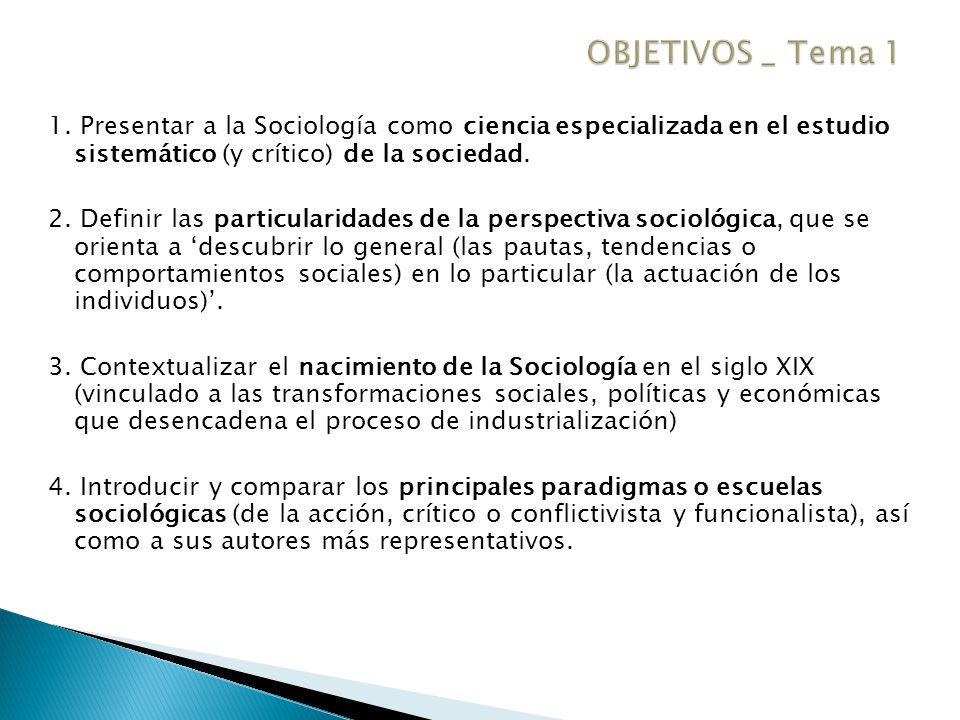 "La presentaci�n ""Introducci�n a la Sociolog�a. 1. Presentar a la ..."