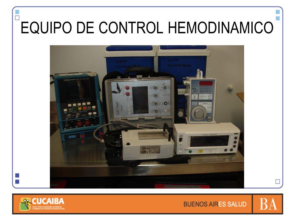 EQUIPO DE CONTROL HEMODINAMICO